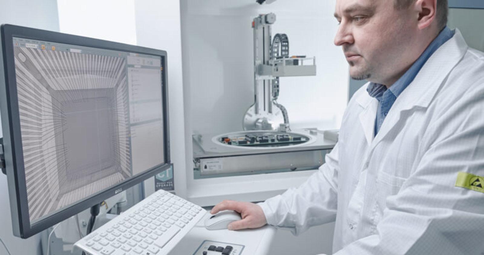 Testmethoden wie die Röntgenprüfung geben Sicherheit und begleiten die EMS-Serienfertigung bei Technosert.